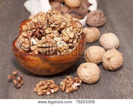 Walnuts Whole And Peeled.