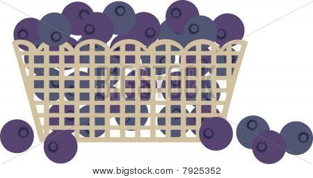 Blueberry blueberries market grocery fruit basket
