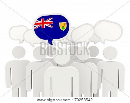 People With Flag Of Turks And Caicos Islands