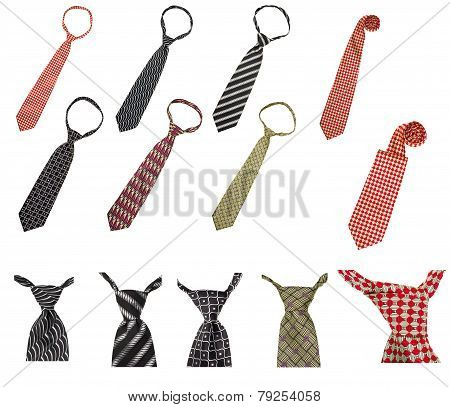 Set Of Male Business Ties Isolated