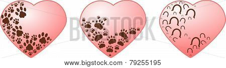 Heart With Paws