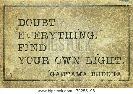 Doubt Buddha