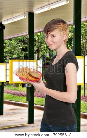 Woman Waitress