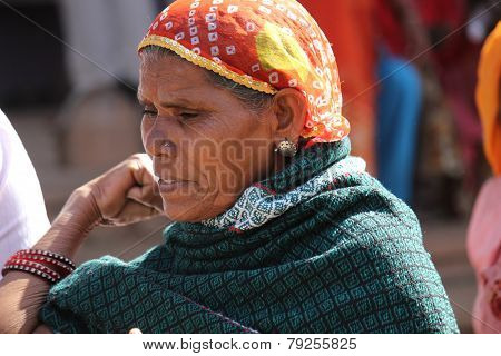 Portrait Of An Old Indian Woman