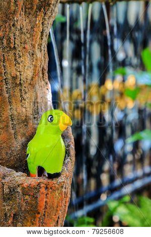 Green Ceramic Bird Garden Decoration