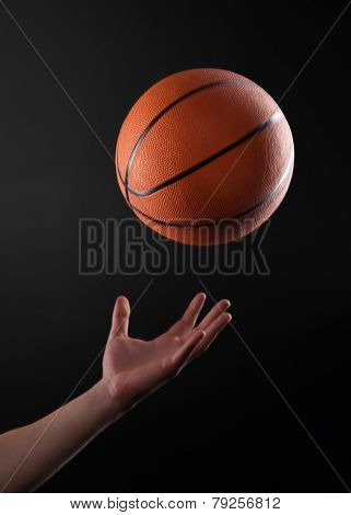 Close up of hand throwing the ball