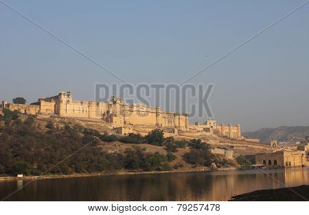 View From The Distance Of Amber Fort