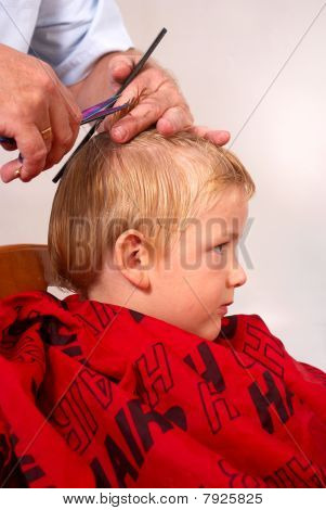Boy At The Hairdresser
