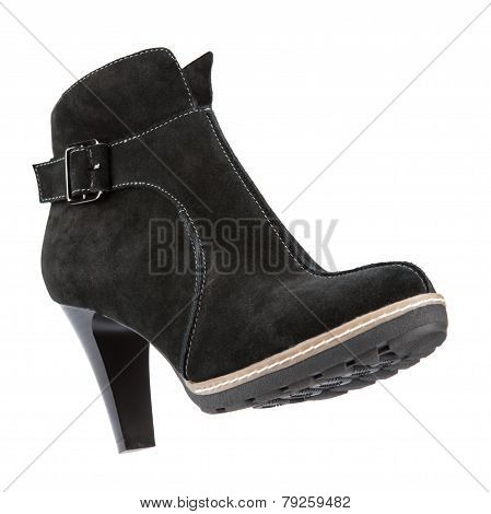 Women's Winter Boots On A White Background