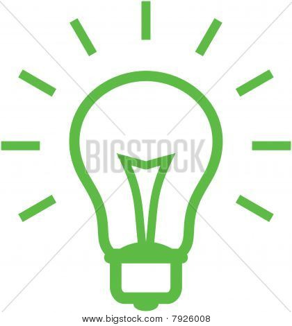 Vector light bulb illustration