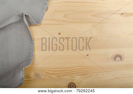 Sacking On Wood Background