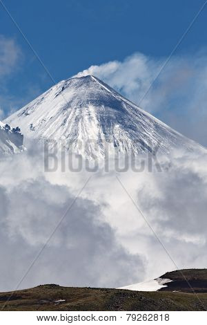 Kliuchevskoi Volcano - Active Volcano Of Kamchatka Peninsula