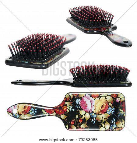 women comb hair