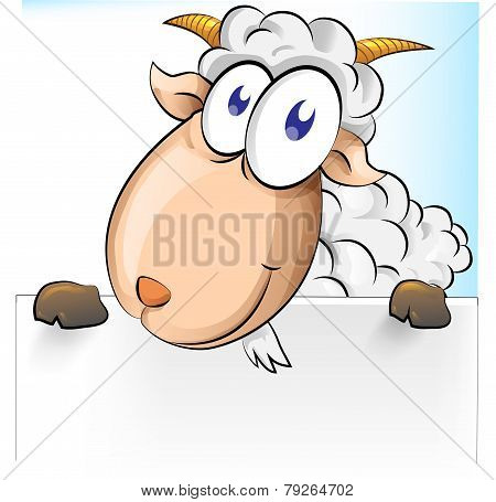 Goat Cartoon With Background