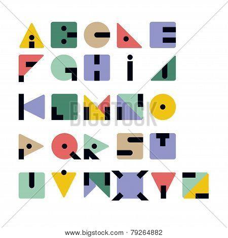 Geometric Retro Typeface
