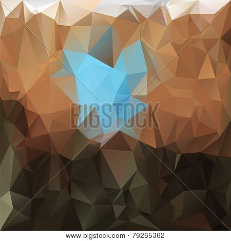 Vector Polygonal Background - Triangular Design In Earthy Color