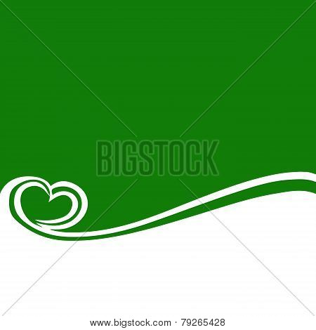 Green And White Background With A Streaming Heart