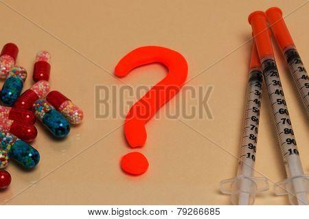 Comparison, Selection Tablets Or Injection Via A Syringe