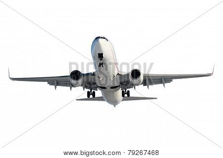 White Plane With Landing Gear