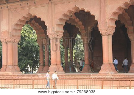 Red Fort colonnade, Delhi