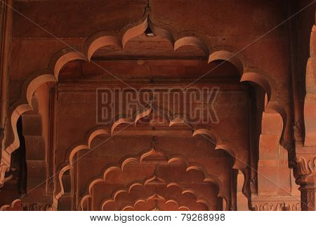Red Fort, arches detail