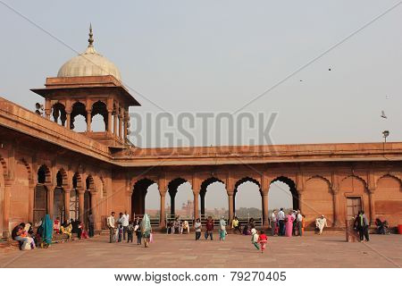 Court of the Jama Masjid Of Delhi