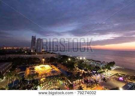 Pattaya City At Sunset