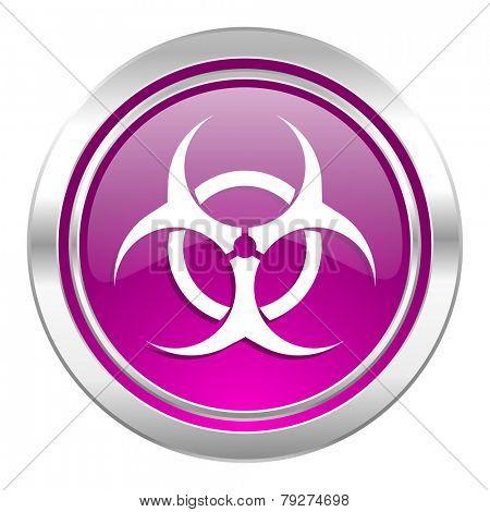 biohazard violet icon virus sign