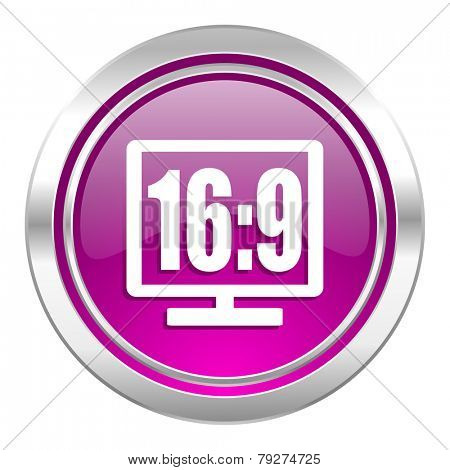 16 9 display violet icon
