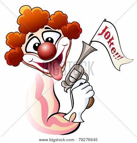 Clown with a gun