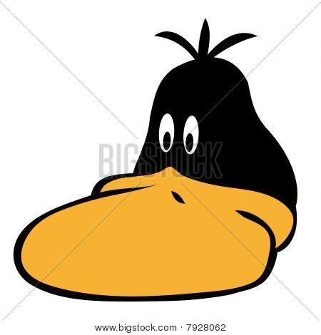 Funny black duck face.
