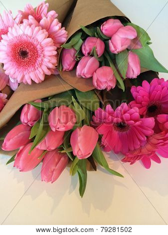 Wrapped Flower Bouquets