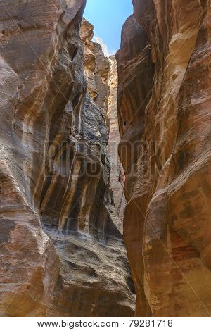 The Siq In Petra, Jordan