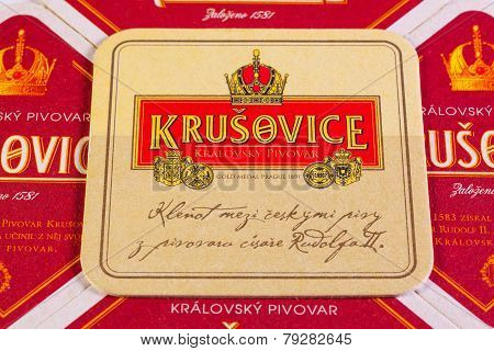 Beermats From Krusovice Beer