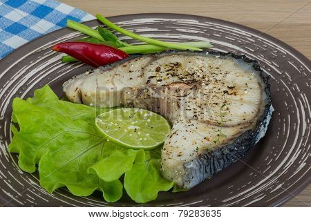 Grilled Shark Steak