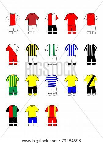Dutch League Clubs Kits