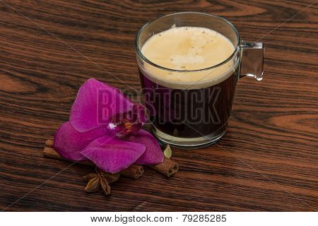 Espresso With Orchid