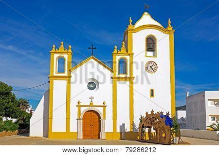 Church of Our Lady of the Light (Nossa Senhora da Luz) in Luz, Algarve, Portugal.