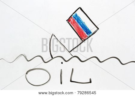 Russian Ship Sinking As A Symbol Of Russian Economy Falling Down.