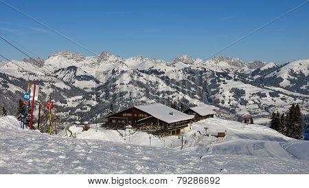 View From The Wispile Ski Area In  Gstaad