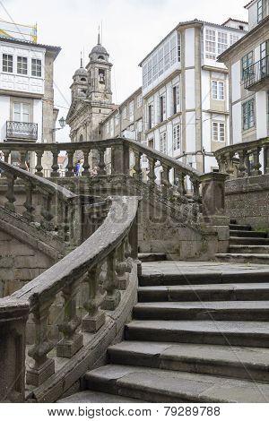 a street in Santiago de Compostela city - Spain