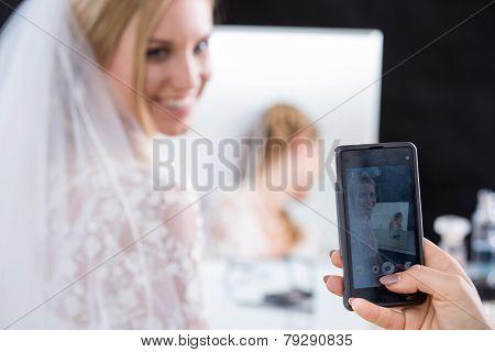 Bride Having Taken Photo