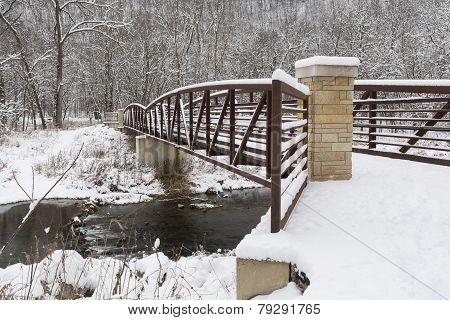 Footbridge In Winter