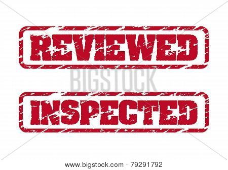 Reviewed And Inspected Rubber Stamps