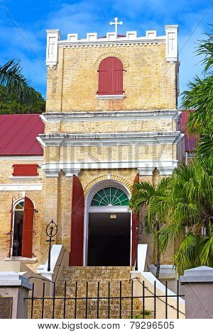Old Lutheran Church on St Thomas Island US VI.