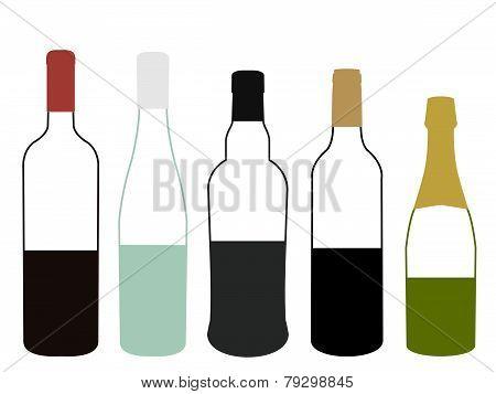 Wines Of Europe Half Full Bottles