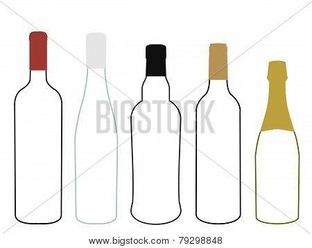 Wines Of Europe Empty Bottles