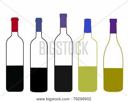 Wines Of The World Half Full Bottles