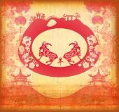 foto of mid autumn  - Chinese symbol 2015 year of the goat Chinese Mid Autumn festival  - JPG