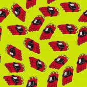 pic of time-bomb  - dynamite bomb seamless pattern cartoon illustration - JPG